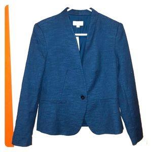 NWT Blue Tweed Blazer Petite